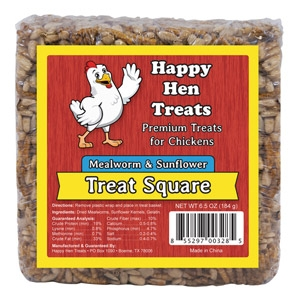 Happy Hen Mealworm & Sunflower Treat Square