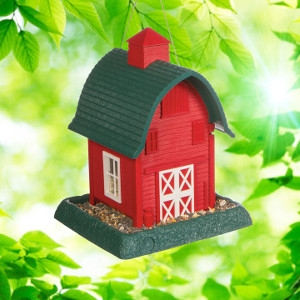 North States Red Barn Birdfeeder