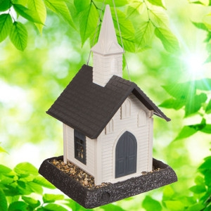 North States White Church Birdfeeder