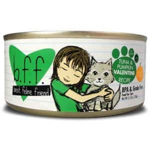 Best Friend Feline (BFF) Tuna and Pumpkin Valentine Cat Food, 5.5 oz