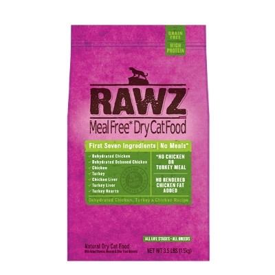 Rawz Dehydrated Chicken, Turkey & Chicken Recipe for Cats, 1. 75 lb
