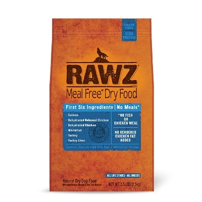 Rawz Salmon, Dehydrated Chicken & Whitefish Recipe for Dogs, 10 lb