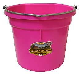 20Qt Flat Back Plastic Bucket - Assorted Colors