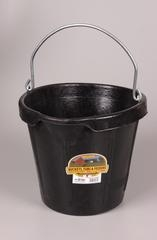Duraflex 18QT. Rubber Bucket with Pouring Lip