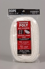 "Twisted Poly Rope White 3/8"" X 50'"