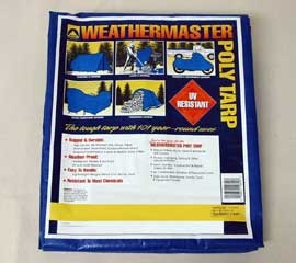 30' X 40' Weathermaster Poly Tarp Blue