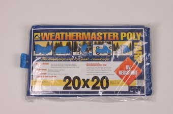 20' X 20' Weathermaster Poly Tarp Blue