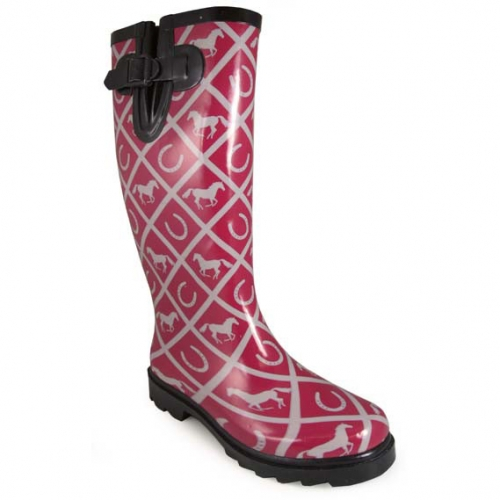 Smoky Mountain Rubber Boot - Maroon Cheshire Print