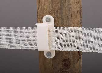 "Dare Wood Post Insulator 1-1/2"" Tape White 25PK"