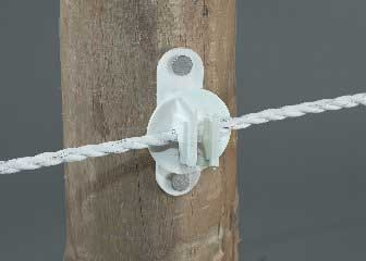Dare Wood Post/Vinyl Post Insulator White 25PK