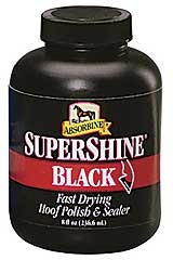 Supershine Hoof Polish Black 8 oz.