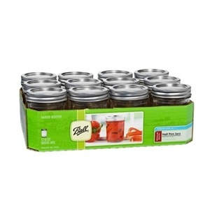 Ball Regular Mouth Mason Jars with Lids 8oz 12 Pack