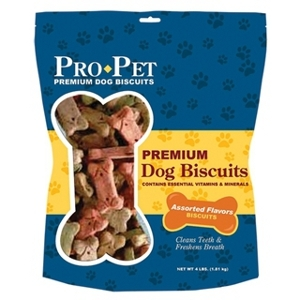 Pro Pet Premium Dog Biscuit Assorted Flavors 4 lb