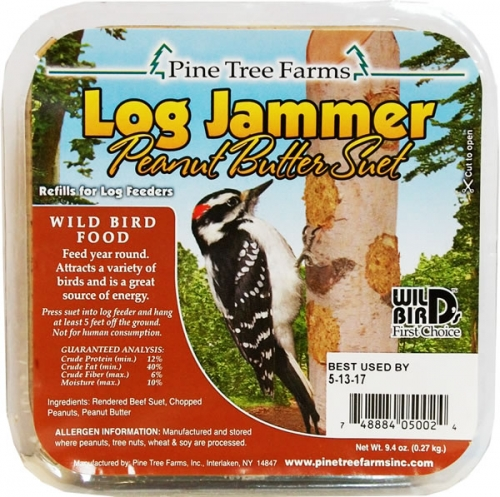 Pine Tree Farms Log Jammer Suet, Peanut butter