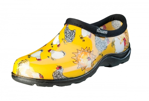 Sloggers, Women's Waterproof Comfort Shoes, Chicken Print Daffodil Yellow