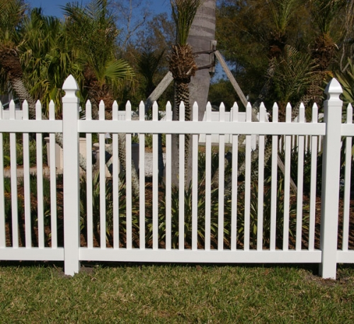 Fence, White 8ft.