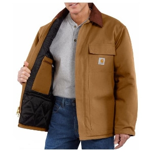 Men's Carhartt Duck Traditional Coat/Arctic Quilt-Lined