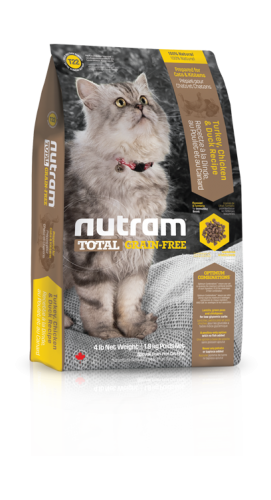 T22 Nutram Total Grain-Free® Turkey, Chicken & Duck Natural Cat FoodPrepared for Cats & Kittens