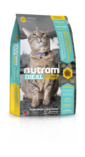 I12 Nutram Ideal Solution Support® Weight Control Natural Cat FoodChicken with Pearled Barley & Split Pea Recipe