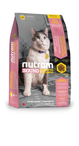 S5 Nutram Sound Balanced Wellness® Adult and Senior Natural Cat FoodChicken, Salmon & Split Pea Recipe