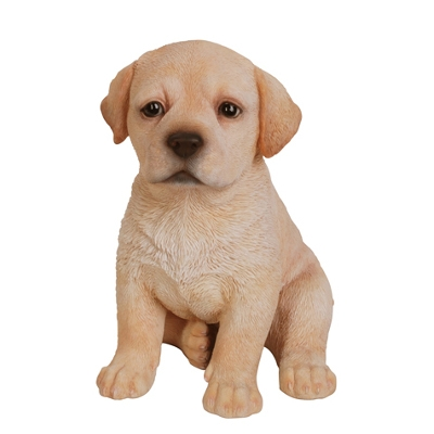 Golden Retriever Lab Puppy Resin Statue