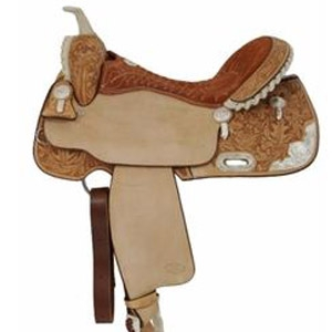 Billy Cook Silver Show Barrel Racer Saddle