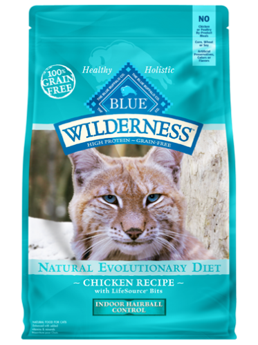 Blue Wilderness® Indoor Hairball Control Chicken Recipe