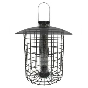 Droll Yankees Squirrel Proof Sunflower Domed Cage Feeder-Black