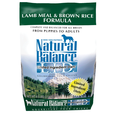 Natural Balance Limited Ingredient Diet Lamb Meal & Brown Rice Dry Dog Food 15 lb.