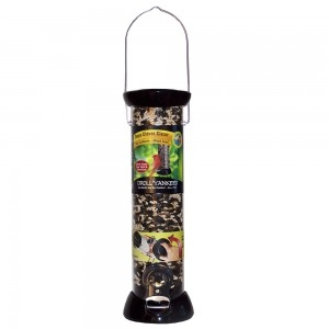 Droll Yankees Onyx Clever Clean 12″ Sunflower/Mixed Seed Feeder