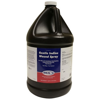 Ideal Gentle Iodine Wound Spray Gallon