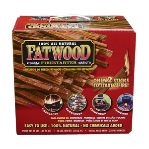 Fatwood 100% All Natural Firestarter 25 lbs.