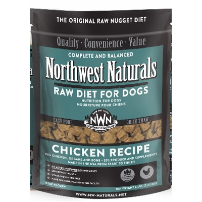 NW Naturals Chicken Raw Diet Dog Food