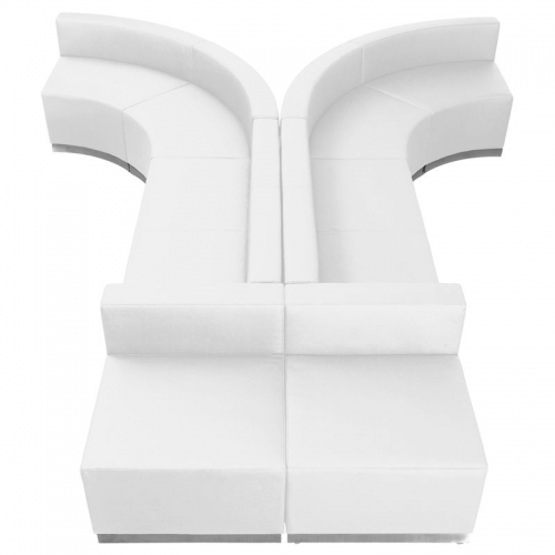 Hercules, Alon Series, White Leather Loveseat