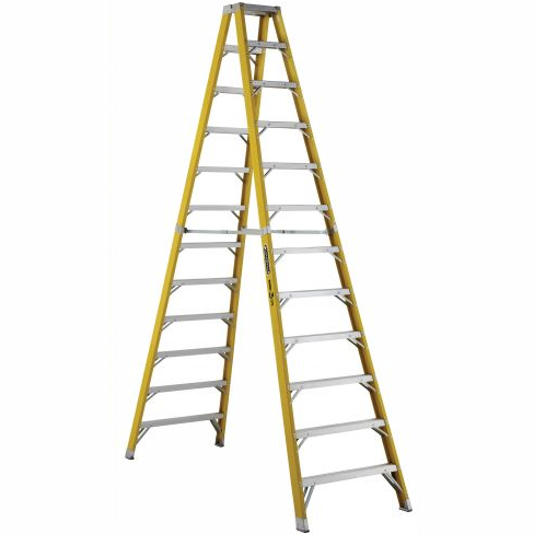 12 ft Fiberglass Twin Front Step Ladders