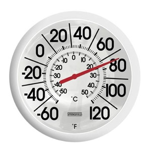 Springfield Big and Bold Outdoor Thermometer