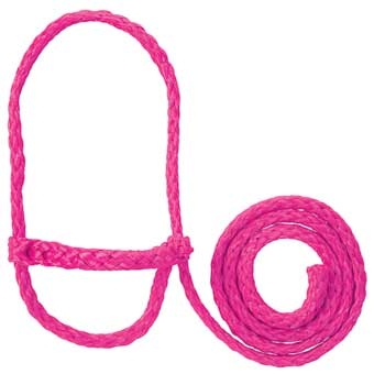 35-7841 PK Weaver Leather Poly Rope Sheep Halter 4' Pink Fusion