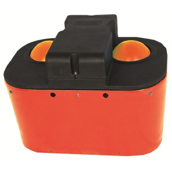 MiraFount 2-Hole Waterer Orange/Black 20 Gal