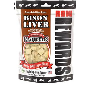 Raw Rewards Bison Liver Treats, 3 oz.