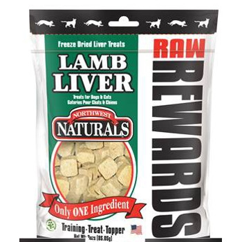 Raw Rewards Lamb Liver Treats, 3 oz.