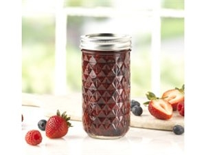 Ball® Quilted Crystal Jelly Jars Set of 12
