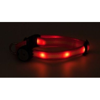 Mace Brand Night Beams Pet Collar- Orange
