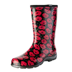 Sloggers® Rain & Garden Boots - Red Poppies