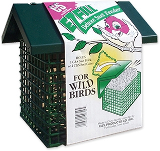 C&S E-Z Fill Deluxe Suet Feeder with Roof