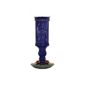 Woodstream Square Antique Hummingbird Feeder Cobalt Blue