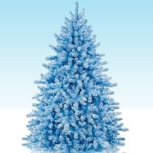 6.5' Hilltop Blue Christmas Tree with 650 Clear Lights