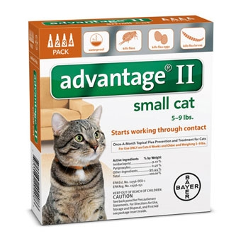Advantage II Flea Control for Small Cats 5-9 lbs - 4PK