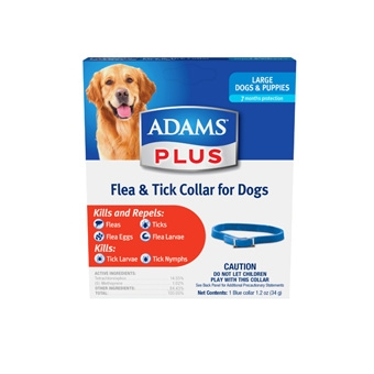 Adams Plus Flea & Tick Collar for Large Dogs