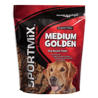 Sportmix Premium Dog Biscuit Treats Medium Golden Pouch 4#