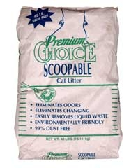 Premium Choice Scoopable Litter 40#